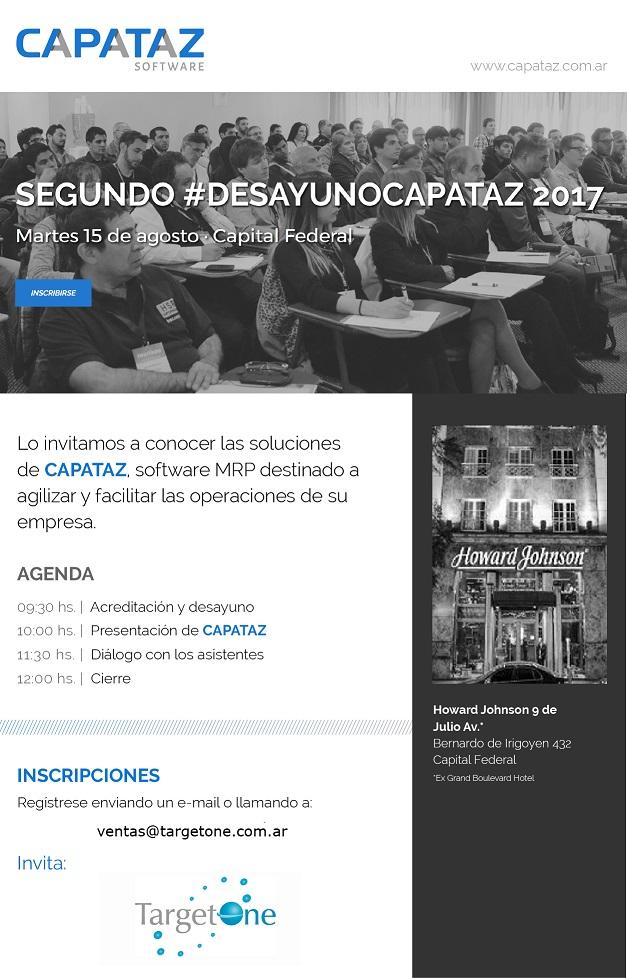 Invitacion #SegundoDesayuno Capataz 2017